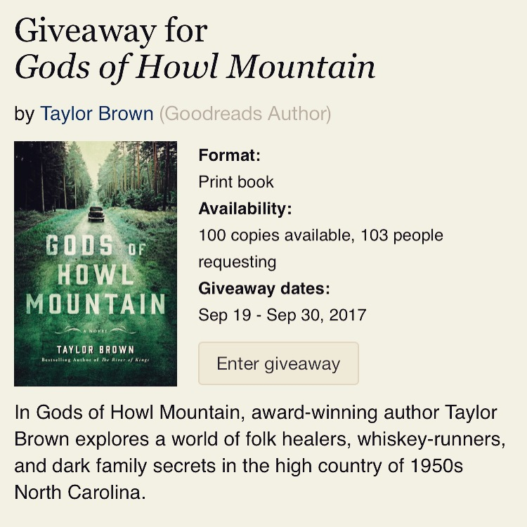 Gods of Howl Mountain Goodreads Giveaway