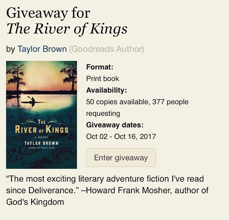 The River of Kings Giveaway